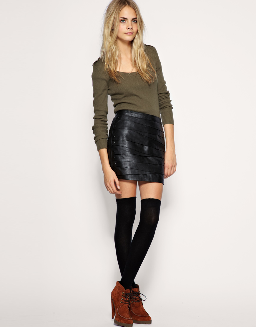 ASOS leather skirt