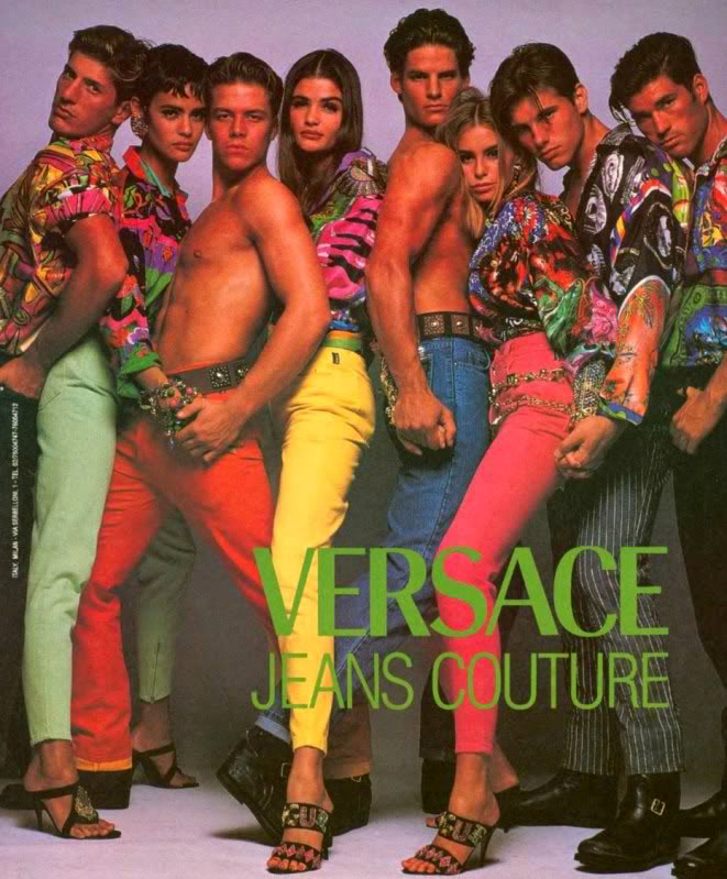 90 s versace print ads featuring some of the original supermodels